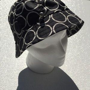 Eddie Bauer Bucket Hat Black White Poly L/ XL